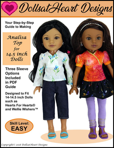 "Analisa Top 14-14.5"" Doll Clothes Pattern"