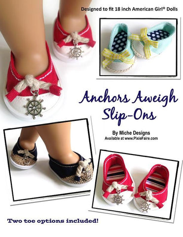 "Anchors Aweigh 18"" Doll Shoes"