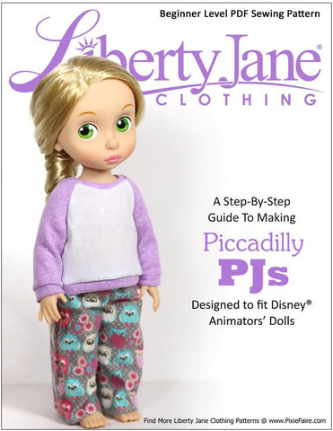 Piccadilly PJs Pattern for Disney Animators' Dolls