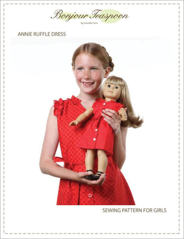 Annie Ruffle Dress for Girls and Dolls Bundle Pattern