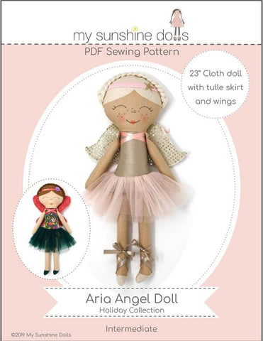 "Aria Angel Doll 23"" Cloth Doll Pattern"