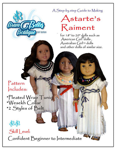 "Astarte's Raiment 18-20"" Doll Clothes Pattern"