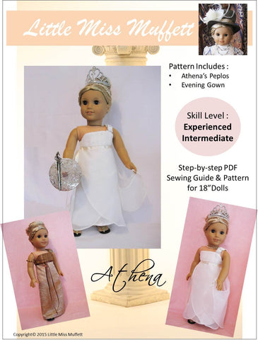 "Little Miss Muffett 18 Inch Modern Athena 18"" Doll Clothes Pattern Pixie Faire"