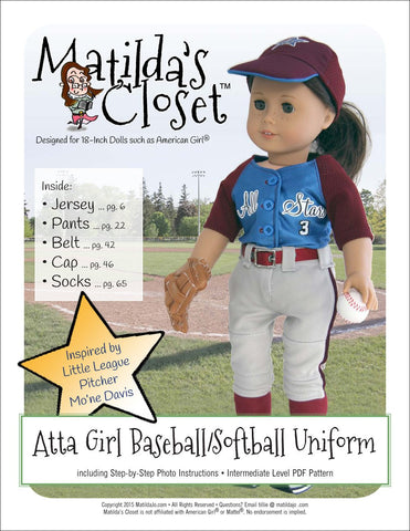 18 Inch Doll Sports Patterns | Pixie Faire