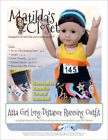 "Atta Girl Long-Distance Running Outfit 18"" Doll Clothes"