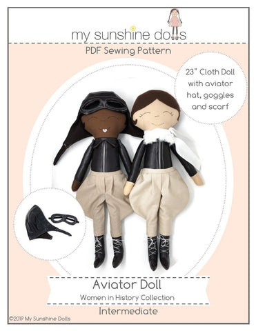 "Aviator Doll 23"" Cloth Doll Pattern"