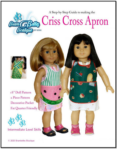"Criss Cross Apron 18"" Doll Accessories"
