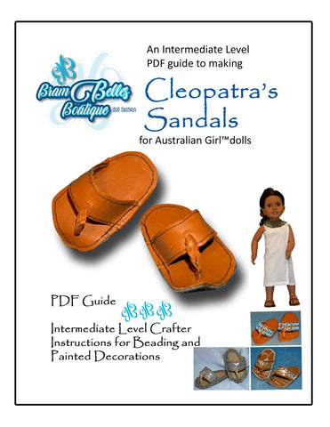 Cleopatra's Sandals Doll Shoe Pattern for Australian Girl Dolls