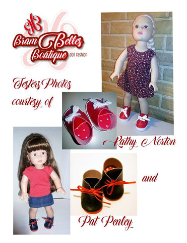 "No-Sew Desert Boots 18"" Doll Shoe Pattern"