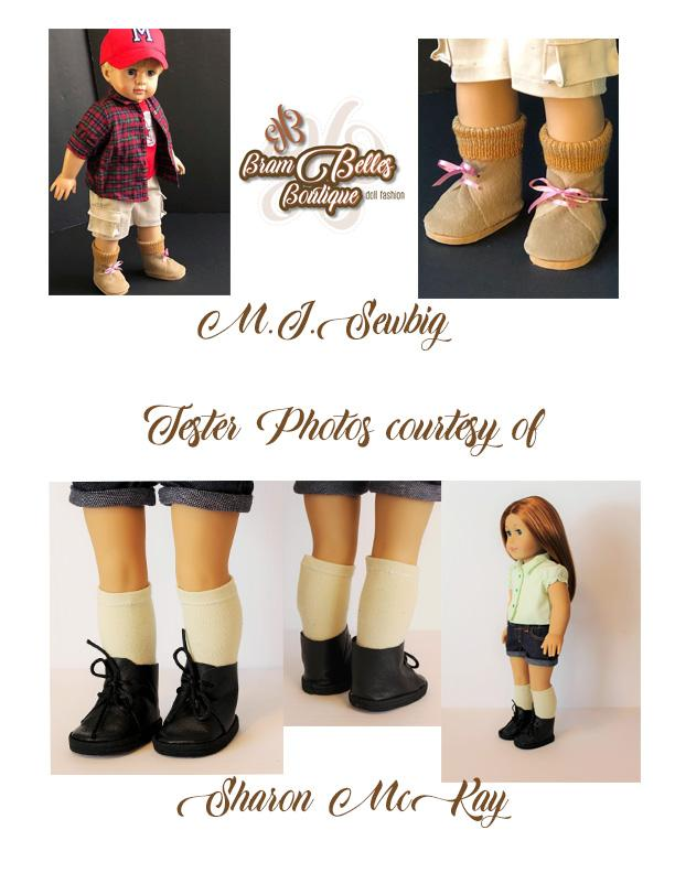 """BROWN Suede /& TAN Fur DOLL ANKLE BOOTS SHOES fits 18/"""" AMERICAN GIRL DOLL"""