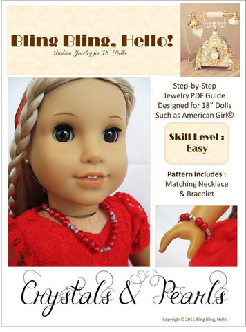 Crystals and Pearls Doll Jewelry Pattern