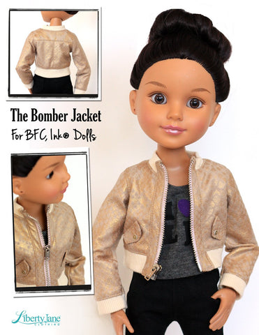Bomber Jacket for BFC, Ink. Dolls