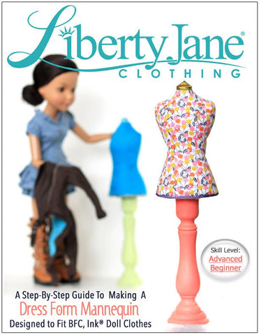 Dress Form Pattern for BFC, Ink & A Girl For All Time  Dolls