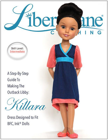 Killara Dress Pattern for BFC, Ink Dolls