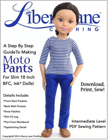 Moto Pants Pattern BFC, Ink. Dolls