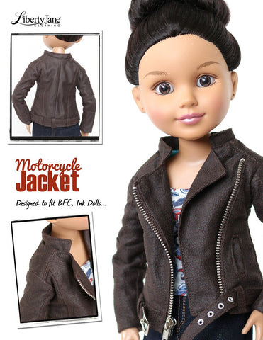 Motorcycle Jacket Pattern for BFC, Ink Dolls