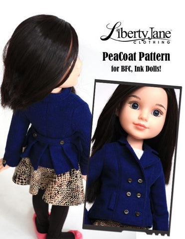 Piccadilly Peacoat Pattern for BFC, Ink. Dolls