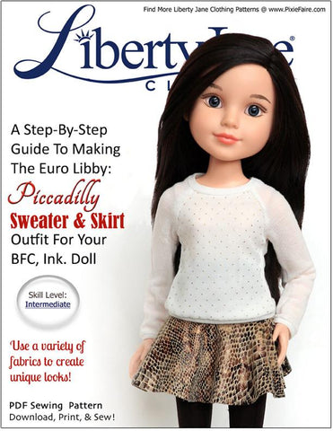 Liberty Jane BFC Ink Piccadilly Sweater & Skirt Bundle  BFC, Ink. Dolls Pixie Faire