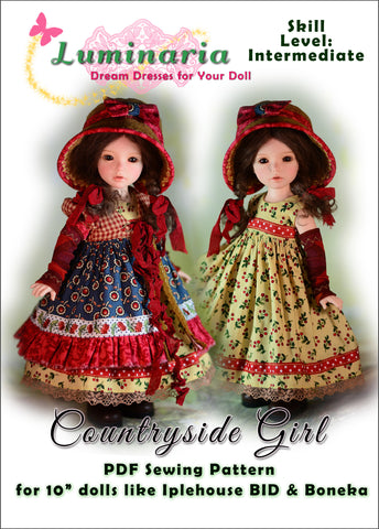 "Countryside Girl Pattern for 10"" Ball Jointed Dolls"