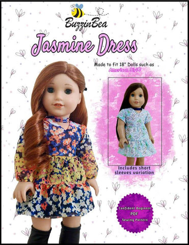 "Jasmine Dress 18"" Doll Clothes Pattern"