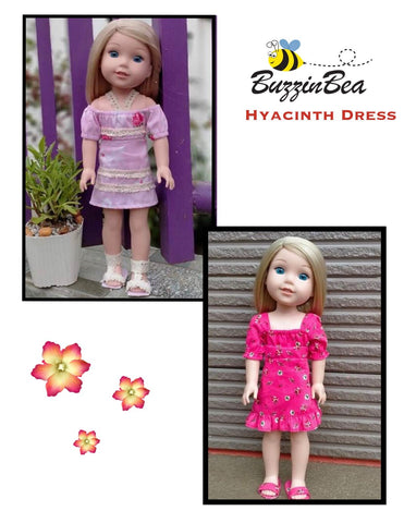 "Hyacinth Dress 14.5"" Doll Clothes Pattern"