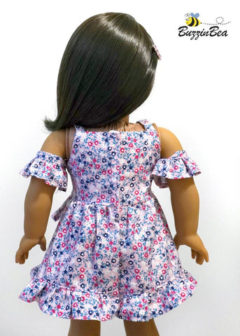 "Chrysanthemum Dress 18"" Doll Clothes Pattern"