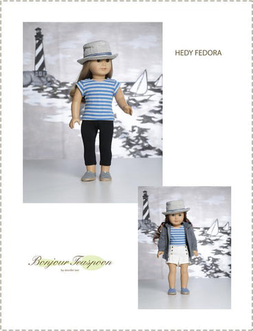 "Hedy Fedora 18"" Doll Accessory Pattern"