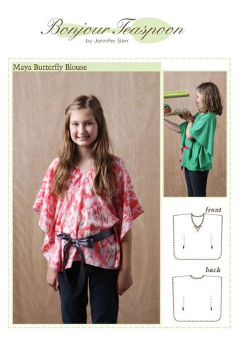 Maya Butterfly Blouse Pattern for Girls