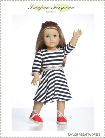 Taylor Regatta Dress for Girls and Dolls Bundle Pattern