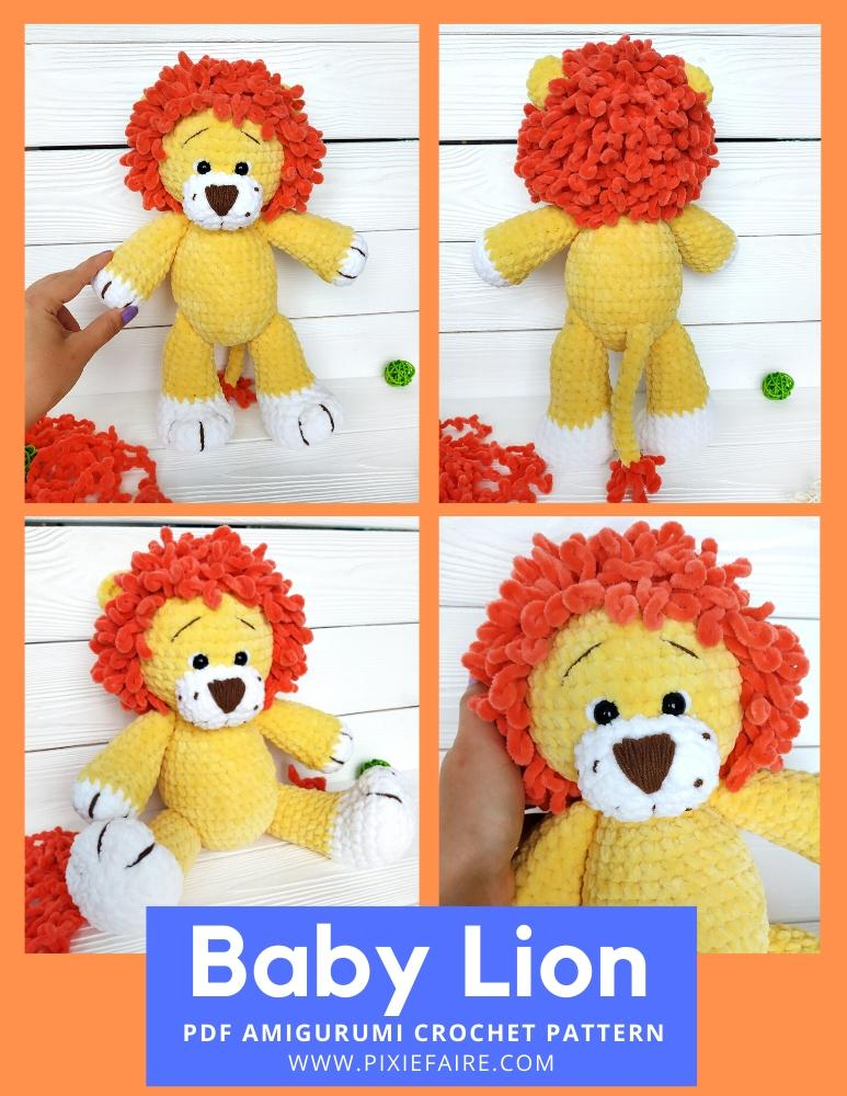 Simba - The Lion King | Amigurumi lion Disney crochet toy Disney ... | 1000x773