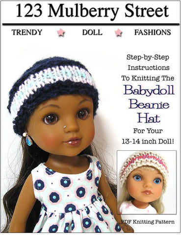 Babydoll Beanie Knitting Pattern for Les Cheries and Hearts for Hearts Girls Dolls