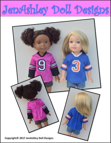 "Relaxed Fit Football Jersey 14.5"" Doll Clothes Pattern"