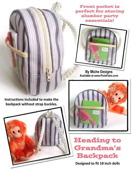 Miche Designs Heading To Grandma S Backpack Doll Clothes