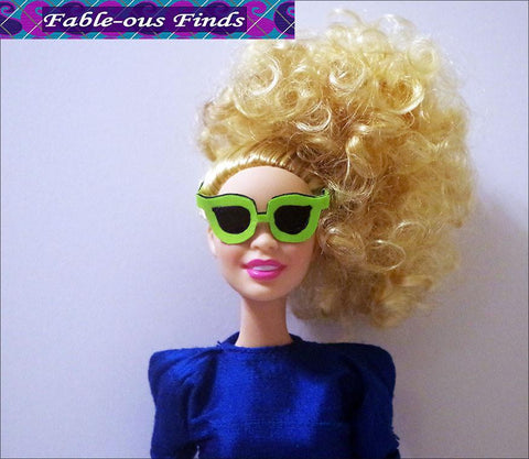 "80's Chic Sheath Dress and Shades for 11-1/2"" Fashion Dolls"