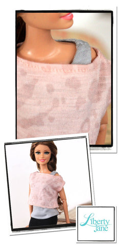 "Off The Shoulder Tee for 11-1/2"" Fashion Dolls"