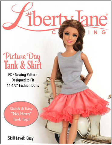 "Liberty Jane Barbie Picture Day Skirt & Tank for 11-1/2"" Fashion Dolls Pixie Faire"