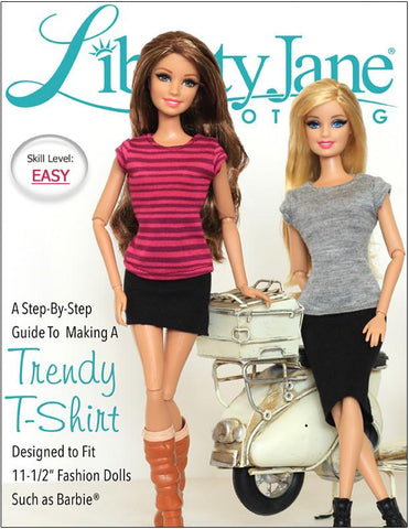 "Liberty Jane Barbie FREE T-Shirt For 11-1/2"" Fashion Dolls Pixie Faire"