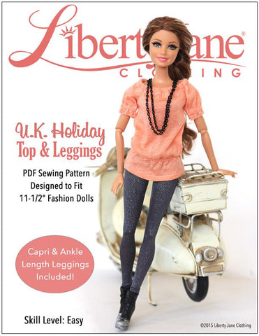 "Liberty Jane Barbie U.K. Holiday Outfit for 11-1/2"" Fashion Dolls Pixie Faire"