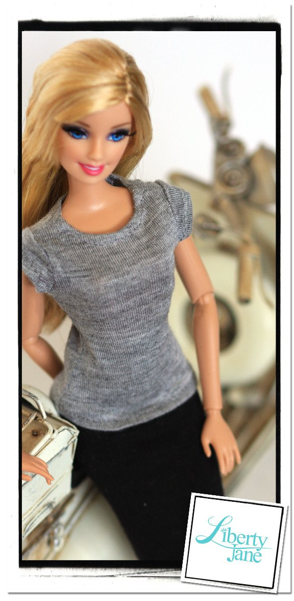 Free T Shirt Pattern For 11 12 Fashion Dolls Like Barbie Pixie Faire