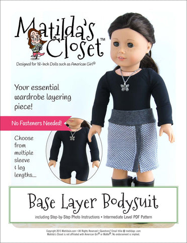 "Base Layer Bodysuit 18"" Doll Clothes"