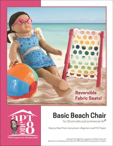 "AptOne8 18 Inch Modern FREE Basic Beach Chair 18"" PVC Pattern Pixie Faire"
