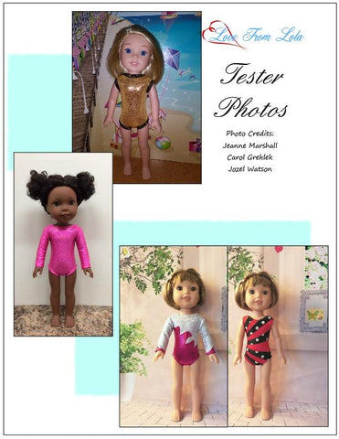 "Basic Leotard 14.5"" Doll Clothes Pattern"