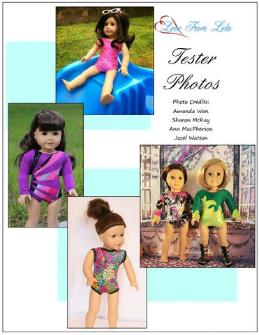 "Basic Leotard 18"" Doll Clothes Pattern"