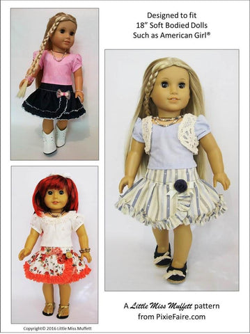 "Basking in Ruffles 18"" Doll Clothes"