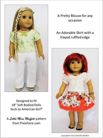 "Basking in Ruffles Bundle 18"" Doll Clothes Pattern"