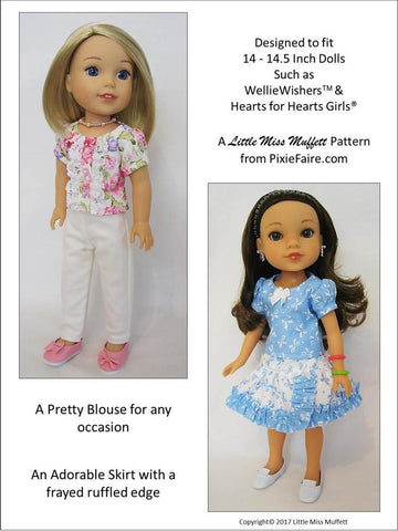 "Basking In Ruffles Bundle 14-14.5"" Doll Clothes Pattern"