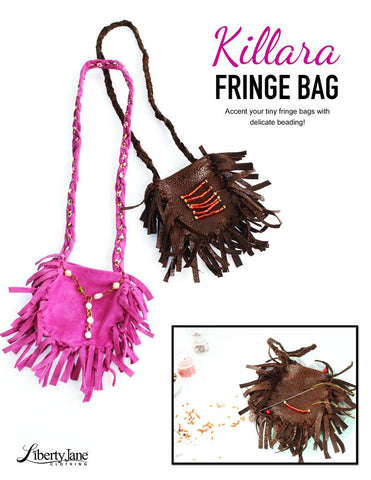 "Killara Fringe Bag 18"" Doll Accessory Pattern"