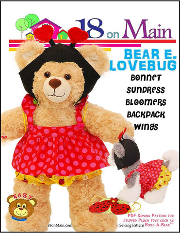 18 On Main Build-A-Bear Bear E. Lovebug Pattern for Build-A-Bear Dolls Pixie Faire