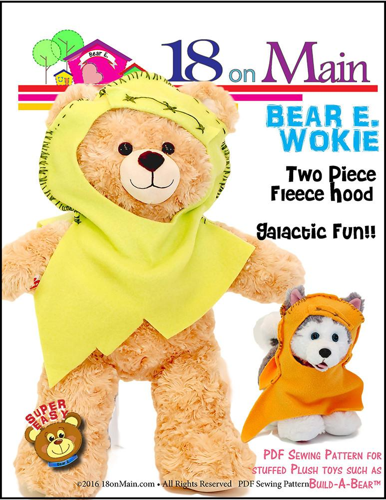 18 On Main Bear E Wokie Plush Toy Clothes Pattern 15 To 18 Inch