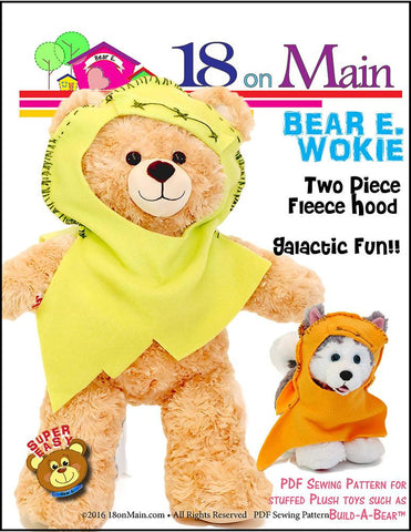 18 On Main Build-A-Bear Bear E. Wokie Pattern for Build-A-Bear Dolls Pixie Faire